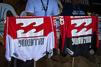 PIPELINE, Oahu/Hawaii (Wednesday, December 8, 2010) - The contest rash shirts used for the dual heat sytem running at the Billabong Pipe Masters.  Day 1 of the Billabong Pipe Masters in Memory of Andy Irons, the third and final stop on the Vans Triple Crown of Surfing (an ASP Specialty Series) got underway today, with Rounds 1 and 2 completed in challenging six foot (2 metre) waves at the Banzai Pipeline on Oahu's North Shore.. .The final stop on the 2010 ASP World Tour, the Billabong Pipe Masters in Memory of Andy Irons utilized the ASP's Dual Heat Format today, overlapping the man-on-man matches to take advantage of the swell on offer. With a smattering of Pipeline specialists lining the field, the world's best surfers campaigned against one another and the elements to ensure their position amongst the world's best surfers for 2011.. .Dusty Payne (HAW), 21, 2010 ASP World Tour rookie, currently sits at No. 36 on the ASP World Rankings in need of at least an Equal 9th to vault himself into a requalification spot for 2011..Payne faces two-time ASP World Champion Mick Fanning (AUS), 29, in Round 3 of the Billabong Pipe Masters in Memory of Andy Irons.. .Joel Parkinson (AUS), 29, in his first ASP World Tour event back since injury, posted a convincing Round 2 victory over wildcard Heitor Alves (BRA), 28, in trying conditions out at Pipeline.. .Photo: joliphotos.com
