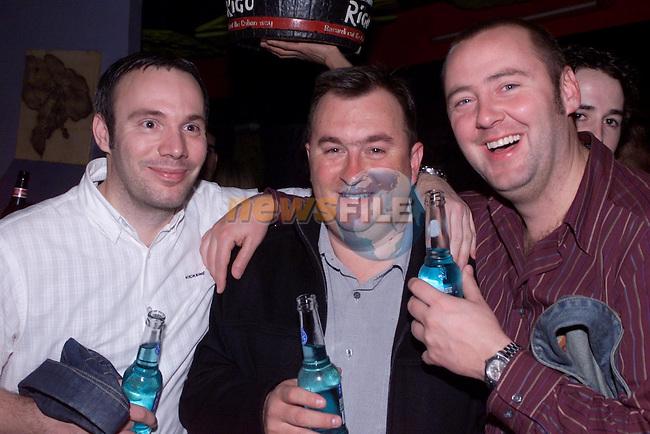 Darren Whiticker  , Nick Arterton and Mat Tinleyin Storm..Pic Newsfile