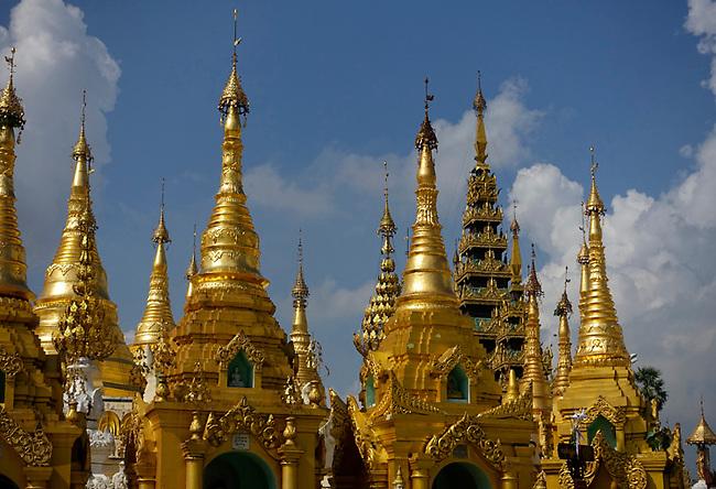 Spires at Shwedagon Pagoda
