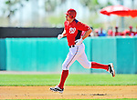 12 March 2012: Washington Nationals third baseman Ryan Zimmerman rounds the bases after hitting a homer during a Spring Training game against the St. Louis Cardinals at Space Coast Stadium in Viera, Florida. The Nationals defeated the Cardinals 8-4 in Grapefruit League play. Mandatory Credit: Ed Wolfstein Photo