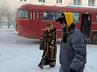 Street scene in the city centre of Yakutsk.