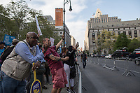 NEW YORK, NY - May 01:  A group of people confront Trump supporters during the May Day Strike for workers rights at Foley Square. Labor unions and civil rights groups staged May Day rallies in several U.S. cities on Monday to denounce President Donald Trump's get-tough policy on immigrationIn New York City on May 01, 2017. Photo by VIEWpress/Maite H. Mateo.