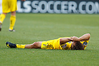 3 JULY 2010:  Guillermo Barros Schelotto of the Columbus Crew (7) lays on the pitch during MLS soccer game between Chicago Fire vs Columbus Crew at Crew Stadium in Columbus, Ohio on July 3, 2010.