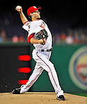 29 September 2010: Washington Nationals pitcher Ross Detwiler on the mound against the Philadelphia Phillies at Nationals Park in Washington, DC. The Phillies defeated the Nationals 7-1 to take the rubber game of their 3-game series. Mandatory Credit: Ed Wolfstein Photo