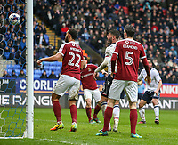 Bolton Wanderers' Filipe Morais, right, slots the winning goal<br /> <br /> Photographer Alex Dodd/CameraSport<br /> <br /> The EFL Sky Bet League One - Bolton Wanderers v Northampton Town - Saturday 18th March 2017 - Macron Stadium - Bolton<br /> <br /> World Copyright &copy; 2017 CameraSport. All rights reserved. 43 Linden Ave. Countesthorpe. Leicester. England. LE8 5PG - Tel: +44 (0) 116 277 4147 - admin@camerasport.com - www.camerasport.com