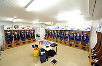 A general view of the away changing rooms at the Stade Mayol. European Rugby Champions Cup match, between RC Toulon and Bath Rugby on January 10, 2016 at the Stade Mayol in Toulon, France. Photo by: Patrick Khachfe / Onside Images
