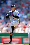 11 April 2006: Brian Bannister, pitcher for the New York Mets, picks up his first win of the season on the mound against the Washington Nationals during the Nationals' Home Opener at RFK Stadium, in Washington, DC. The Mets defeated the Nationals 7-1 to maintain their early lead in the NL East...Mandatory Photo Credit: Ed Wolfstein Photo..