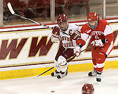 Kelli Stack (BC - 16), Kathryn Miller (BU - 4) - The visiting Boston University Terriers defeated the Boston College Eagles 1-0 on Sunday, November 21, 2010, at Conte Forum in Chestnut Hill, Massachusetts.