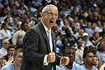 14 November 2014: UNC head coach Roy Williams. The University of North Carolina Tar Heels played the North Carolina Central University Eagles in an NCAA Division I Men's basketball game at the Dean E. Smith Center in Chapel Hill, North Carolina. UNC won the game 76-60.