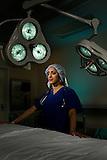 Prasanna Janaki Ananth, Stanford Medical student in operating room at Stanford Hospital..