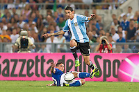 Argentina beats Italy 2-1 during the international friendly between Italy vs Argentina at Stadio Olimpico, in Rome, on August 14, 2013 in Rome. In the photo: Angel Di Maria Argentina. Photo: Adamo Di Loreto/BuenaVista*photo