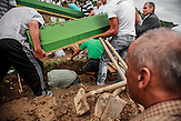 Close relatives are burying the recently identified remains of Nermin (19) and Samir (23) Selimovic who were killed during the 1995 Srebrenica massacre.