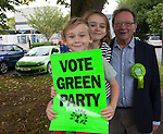 Green Party Co-leader, MP Caroline Lucas helps Larry Sanders, Brother of Senator Bernie Sanders,  to  launch <br /> his campaigh to stand as Green Party MP candidate for Witney,  following David Cameron standing down from his Witney seat.