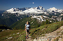 WA04611-00...WASHINGTON - Mount Shuksan and Mount Baker dominating the view from the Copper Mountain Trail in North Cascades National Park.