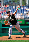 20 June 2010: Chicago White Sox' pitcher Matt Thornton on the mound against the Washington Nationals at Nationals Park in Washington, DC. The White Sox swept the Nationals winning 6-3 in the last game of their 3-game interleague series. Mandatory Credit: Ed Wolfstein Photo