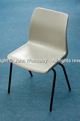 Chair in school classroom.