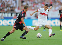 FUSSBALL   1. BUNDESLIGA  SAISON 2011/2012   3. Spieltag     20.08.2011 VfB Stuttgart - Bayer Leverkusen        Khalid Boulahrouz (VfB Stuttgart,re) gegen Lars Bender (Leverkusen)