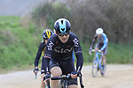 Michal Golas (POL) Team Sky climbs gravel sector 8 Monte Santa Maria during the 2017 Strade Bianche running 175km from Siena to Siena, Tuscany, Italy 4th March 2017.<br /> Picture: Eoin Clarke | Newsfile<br /> <br /> <br /> All photos usage must carry mandatory copyright credit (&copy; Newsfile | Eoin Clarke)