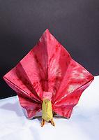 OrigamiUSA 2014 exhibition. Origami peacock designed by Marc Kirschenbaum