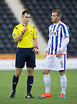 Kilmarnock v St Johnstone...06.12.14   SPFL<br /> Referee Don Robertson lectures Mark Connolly<br /> Picture by Graeme Hart.<br /> Copyright Perthshire Picture Agency<br /> Tel: 01738 623350  Mobile: 07990 594431