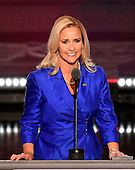 Attorney General Leslie Rutledge (Republican of Arkansas) makes remarks at the 2016 Republican National Convention held at the Quicken Loans Arena in Cleveland, Ohio on Tuesday, July 19, 2016.<br /> Credit: Ron Sachs / CNP<br /> (RESTRICTION: NO New York or New Jersey Newspapers or newspapers within a 75 mile radius of New York City)