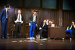 Mojo by Jez Butterworth, directed by Ian Rickson. With Daniel Mays as Potts,  Rupert Grint as Sweets,  Colin Morgan as Skinny,  Brendan Coyle as Mickey, Ben Whishaw as Baby. Opens at The Harold Pinter Theatre  on 13/11/13  pic Geraint Lewis