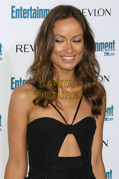 OLIVIA WILDE .6th Annual Entertainment Weekly Pre-Emmy Awards Party.at the Beverly Hills Post Office, Beverly Hills, CA, USA, September 20th 2008..half length funny eyes black dress cut out.CAP/LNC/TOM.©LNC/Capital Pictures