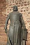 Statue of Dom Sancho I, Silves Castle, Algarve, Portugal
