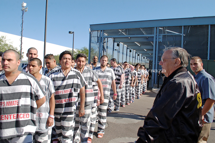 Jail Inmates Walked In Chains To Jail Facility In Maricopa