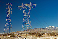 California Palm Springs Wind Turbines, Power Lines, Transition stations