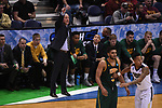 MILWAUKEE, WI - MARCH 16:  Vermont Catamounts Head Coach John Becker motions to his team during the second half of the 2017 NCAA Men's Basketball Tournament held at BMO Harris Bradley Center on March 16, 2017 in Milwaukee, Wisconsin. (Photo by Jamie Schwaberow/NCAA Photos via Getty Images)