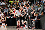01 APRIL 2012:  The Stanford University bench cheers on their team against Baylor University during the Division I Women's Final Four semifinals at the Pepsi Center in Denver, CO.  Baylor defeated Stanford 59-47 to advance to the championship final.  Jamie Schwaberow/NCAA Photos