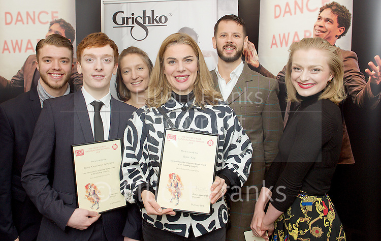 The Critics' Circle National Dance Awards 2015 <br /> at The Place, London, Great Britain <br /> 25th January 2016 <br /> <br /> <br /> <br /> <br /> DANCING TIMES AWARD FOR BEST MALE DANCER <br /> Tobias Batley (Northern Ballet)<br /> Israel Galv&aacute;n (Compa&ntilde;&iacute;a Israel Galv&aacute;n) <br /> Steven Mcrae (The Royal Ballet) <br /> Vadim Muntagirov (The Royal Ballet) <br /> Edward Watson (The Royal Ballet)<br /> <br /> GRISHKO AWARD FOR BEST FEMALE DANCER <br /> Alina Cojocaru (English National Ballet)<br /> Alessandra Ferri (Guest with The Royal Ballet) <br /> Sylvie Guillem (Life In Progress tour)<br /> Roc&iacute;o Molina (Compa&ntilde;&iacute;a Roc&iacute;o Molina)<br /> Marianela Nu&ntilde;ez (The Royal Ballet)<br /> <br /> STEF STEFANOU AWARD FOR OUTSTANDING COMPANY<br /> Candoco Dance Company<br /> English National Ballet <br /> Matthew Bourne&rsquo;s New Adventures <br /> Northern Ballet<br /> <br /> BEST INDEPENDENT COMPANY <br /> 2faced Dance<br /> Ballet Cymru <br /> Company Chameleon <br /> Rosie Kay Dance Company <br /> Shobana Jeyasingh Dance Company<br /> <br /> BEST CLASSICAL CHOREOGRAPHY<br /> Paco Pe&ntilde;a, Fernando Romero, Angel Mu&ntilde;oz, Charo Espino &amp; Carmen Rivas (Flamencura for Paco Pe&ntilde;a Company)<br /> David Bintley (The King Dances for Birmingham Royal Ballet)<br /> Wayne Mcgregor (Woolf Works for The Royal Ballet)<br /> Liam Scarlett (Age Of Anxiety for The Royal Ballet) <br /> Kenneth Tindall (The Architect for Northern Ballet)<br /> <br /> BEST MODERN CHOREOGRAPHY<br /> Mark Baldwin (Dark Arteries for Rambert)<br /> Ben Duke (Paradise Lost [Lies Unopened Beside Me] for Lost Dog) <br /> Rosie Kay (5 Soldiers for Rosie Kay Dance Company) <br /> Le Patin Libre (Vertical Influences for Dance Umbrella)<br /> Crystal Pite (Polaris for Sadler&rsquo;s Wells)<br /> <br /> EMERGING ARTIST AWARD <br /> Avat&acirc;ra Ayuso (Choreographer &amp; Performer, Ava Dance/ Shobana Jeyasingh Dance Company)<br /> Matthew Ball (Dancer &ndash; The Royal Ballet) <br /> Cesar Corrales (Dancer &ndash; English National Ballet) <br /> Carlos Pons Guerra (Choreographer &ndash; Denada Dance Theatre) <br /> Kenneth Tindall (Freelance Choreographer)<br /> <br /> OUTSTANDING FEMALE PERFORMANCE (CLASSICAL)<br /> Lauren Cuthbertson (in Song Of The Earth for The Royal Ballet)<br /> Alessandra Ferri (In Woolf Works for The Royal Ballet)<br /> Francesca Hayward (in the title role as Manon