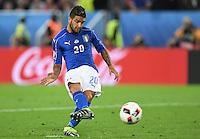 FUSSBALL EURO 2016 VIERTELFINALE IN BORDEAUX Deutschland - Italien      02.07.2016 Lorenzo Insigne (Italien) kann seinen Elfmeter verwandeln