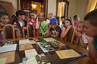 "Romania. Iași County. Iasi. School's pupils during a visit  at the museum ""Vasile Pogor"", a literary history museum which is part of the Iași Romanian Literature Museum ( Muzeul Literaturii Romane Iasi). Iași (also referred to as Iasi, Jassy or Iassy) is the largest city in eastern Romania and the seat of Iași County. Located in the Moldavia region, Iași has traditionally been one of the leading centres of Romanian social life. The city was the capital of the Principality of Moldavia from 1564 to 1859, then of the United Principalities from 1859 to 1862, and the capital of Romania from 1916 to 1918. 13.06.15 © 2015 Didier Ruef"
