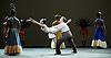 English National Ballet <br /> Triple Bill at Sadler's Wells, London, Great Britain <br /> 12th April 2016 <br /> world premier rehearsal <br /> <br /> <br /> Broken Wings<br /> choreography by Annabelle Lopez Ochoa<br /> <br /> Tamara Rojo as Frida Khalo<br /> <br /> Irek Mukhamedov<br /> as Diego Rivera<br /> <br /> <br /> <br /> Photograph by Elliott Franks <br /> Image licensed to Elliott Franks Photography Services