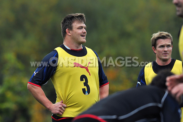 David Wilson looks on. Bath Rugby training session on October 25, 2012 at Farleigh House in Bath, England. Photo by: Patrick Khachfe/Onside Images