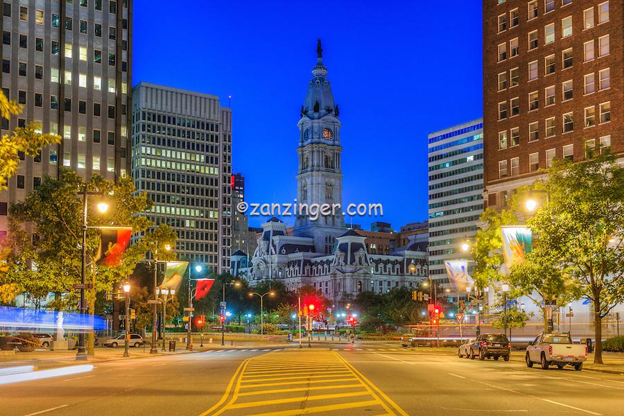 Downtown, Urban, Architecture, Building, Cityscape, City Hall, , Skyline, Philadelphia, PA