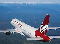 Virgin America Airlines Aerial Photography