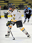 21 February 2009: University of Vermont Catamounts' forward Jessica Murphy, a Senior from Shoreview, MN, in action against the University of Maine Black Bears at Gutterson Fieldhouse in Burlington, Vermont. The Catamounts shut out the Black Bears 1-0. Mandatory Photo Credit: Ed Wolfstein Photo