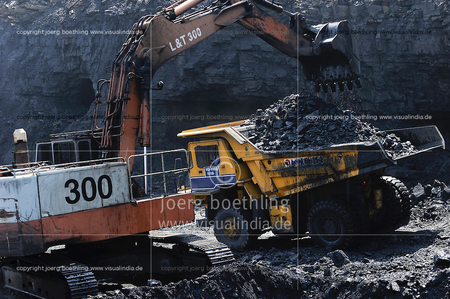 Dhanbad India  City new picture : INDIA Dhanbad, open cast coal mining of BCCL Ltd a company of COAL ...