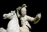 Roman marble sculpture of a warrior on horseback, a 2nd century AD copy from an original 2nd century BC Hellanistic Greek original, inv 6405, Museum of Archaeology, Italy