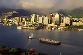 Honolulu Harbor, Honolulu, Oahu,  Hawaii, USA<br />
