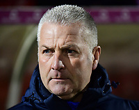 York City manager Gary Mills <br /> <br /> Photographer Andrew Vaughan/CameraSport<br /> <br /> The Buildbase FA Trophy Semi-Final First Leg - York City v Lincoln City - Tuesday 14th March 2017 - Bootham Crescent - York<br />  <br /> World Copyright &copy; 2017 CameraSport. All rights reserved. 43 Linden Ave. Countesthorpe. Leicester. England. LE8 5PG - Tel: +44 (0) 116 277 4147 - admin@camerasport.com - www.camerasport.com