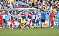 FUSSBALL WM 2014                ACHTELFINALE Argentinien - Schweiz                  01.07.2014 Enttaeuschte Schweizer nach dem Abpfiff