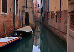 A small canal in Venice, next to the beautiful church of Santo Stefano, not far from the Accademia bridge.