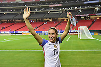 Atlanta, GA - Sunday Sept. 18, 2016: Morgan Brian after a international friendly match between United States (USA) and Netherlands (NED) at Georgia Dome. The United States defeated the Netherlands 3-1.