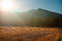 Sun setting over the San Francisco Peaks - Flagstaff, AZ