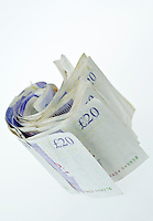 Rolled Up Twenty Pound Notes - Jul 2013.