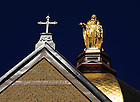 Mary Statue on the Golden Dome..Photo by Matt Cashore/University of Notre Dame